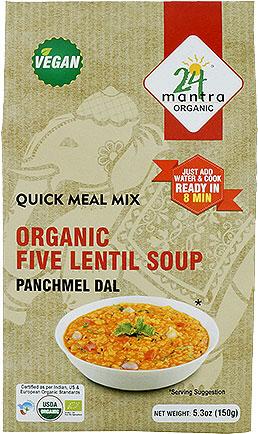 24 Mantra Organic Five Lentil Soup Mix - Panchmel Dal