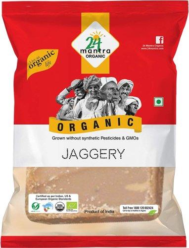 24 Mantra Organic Jaggery Block - Evaporated Cane Juice Block - 2 lbs