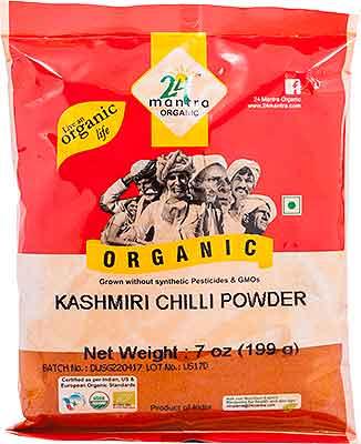 24 Mantra Organic Kashmiri Chili Powder - 7 oz