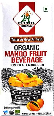 24 Mantra Organic Mango Fruit Beverage - 1 liter