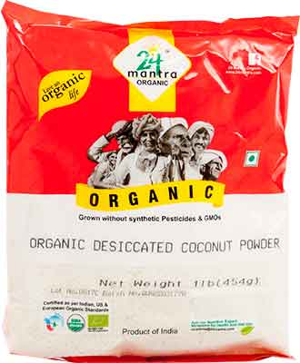 24 Mantra Organic Desiccated Coconut Powder - Unsweetened