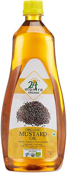 24 Mantra Organic Mustard Oil - 1 liter