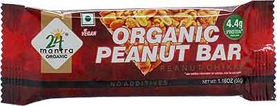 24 Mantra Organic Peanut Bar - Peanut Chikki