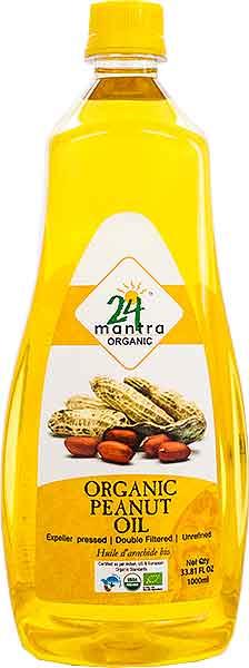 24 Mantra Organic Peanut Oil - 1 liter
