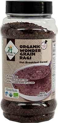 24 Mantra Organic Wonder Grain Ragi - Hot Breakfast Cereal