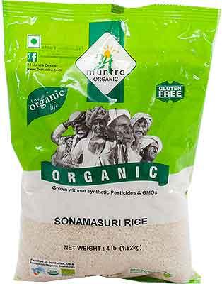 24 Mantra Organic Sona Masuri Rice - White - Polished - 4 lbs