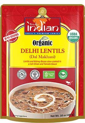 Truly Indian Organic Delhi Lentils (Dal Makhani) (Ready-to-Eat)