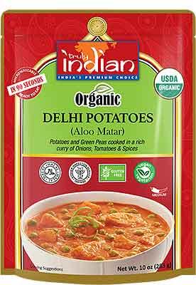 Truly Indian Organic Delhi Potatoes (Aloo Matar) (Ready-to-Eat)