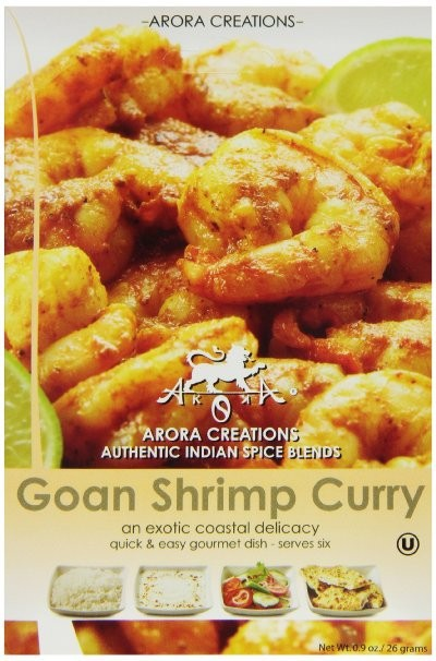 Arora Creations Organic Goan Shrimp and Fish Curry Masala - 6 PACK