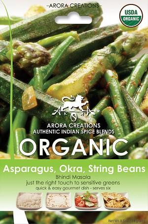 Arora Creations Organic Green Veggie (Asparagus, Okra, String Beans) Masala