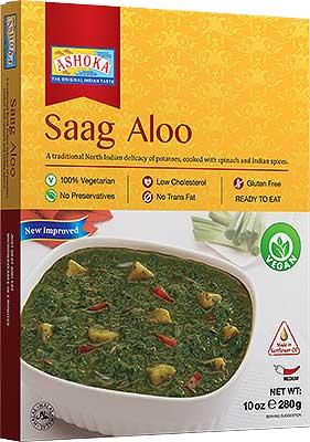 Ashoka Saag Aloo (Ready-to-Eat) - BUY 1 GET 1 FREE!