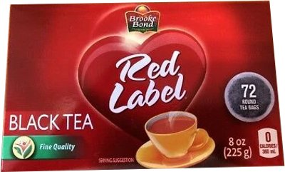 Brooke Bond Red Label Round Tea Bags (72 TEA BAGS)