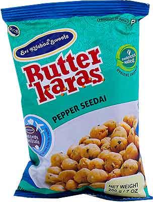 Sri Krishna Sweets Butter Karas - Pepper Seedai