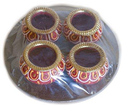 Gujarathi Matki Diya without Wax - 4 Pack