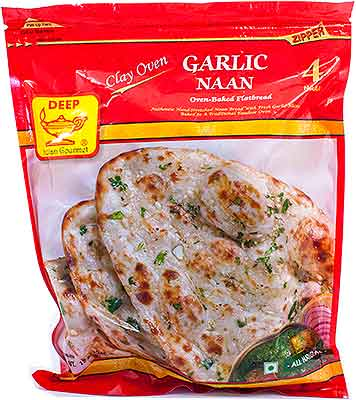 Deep Garlic Naan - 4 Pcs (FROZEN)