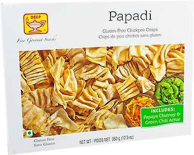 Deep Papadi with Chutney & Pickle - Gluten-Free Chickpea Crisps