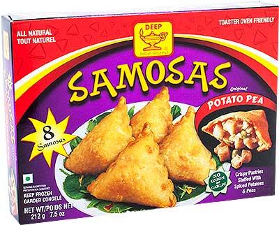 Deep Samosas - Potato & Pea - 8 pcs (FROZEN)