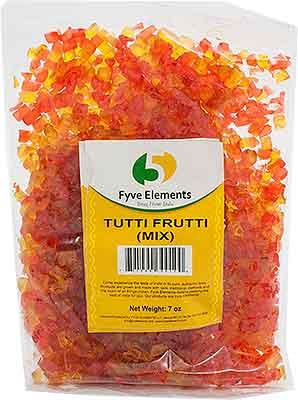 Tutti Frutti Mix (Colored Papaya Pieces)