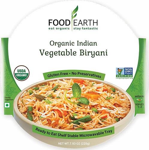 Food Earth Organic Vegetable Biryani (Ready-to-Eat)