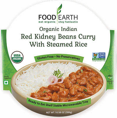 Food Earth Organic Red Kidney Beans Curry with Steamed Rice (Ready-to-Eat)
