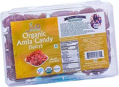 Jiva Organics Amla Candy (Spicy)