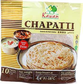 Kawan Chapatti - 10 pcs (FROZEN)