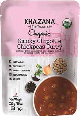 Khazana Organic Smoky Chipotle Chickpeas Curry (Ready-to-Eat)