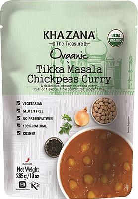 Khazana Organic Tikka Masala Chickpeas Curry (Ready-to-Eat)