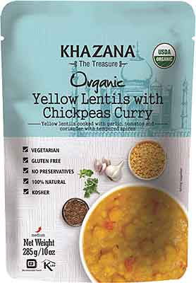 Khazana Organic Yellow Lentils With Chickpeas Curry (Ready-to-Eat)