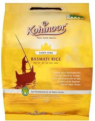 Kohinoor Extra Long Basmati Rice (Gold) - 10 lbs