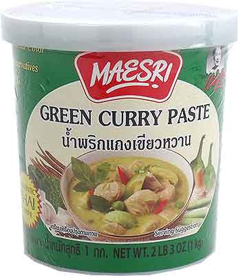 Maesri Green Curry Paste - 1 kg