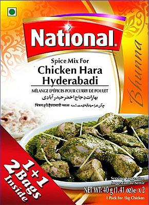 National Chicken Hara Hyderabadi Spice Mix