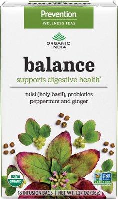 Organic India Prevention Teas - Balance (Supports Digestive Health)