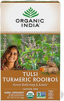 Organic India Tulsi Turmeric Rooibos (Stress Relieving & Exotic)