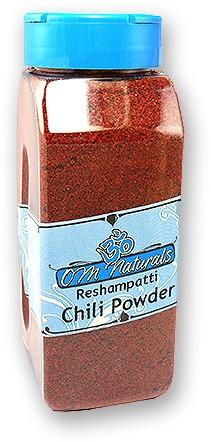 Om Naturals Chili Powder - Reshampatti Hot - 10.5 oz jar