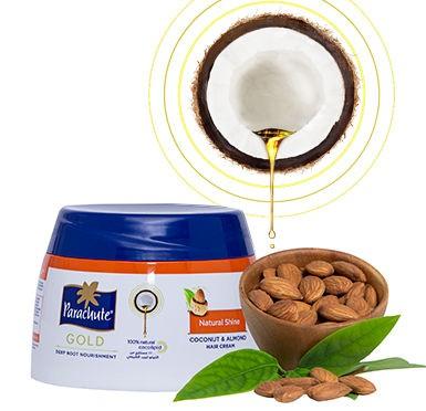Parachute Gold Natural Shine (Coconut & Almond) Hair Cream
