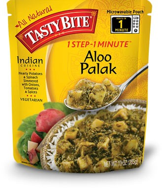 Tasty Bite Aloo Palak  - Potato Spinach Curry (Ready-to-Eat)